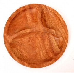 Neem Wood Baby Plate 9'' Diameter-The Indus Valley