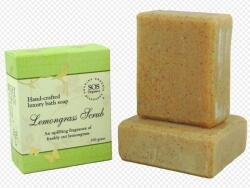 Lemongrass Scrub Soap 100 Gms-Sos Organics