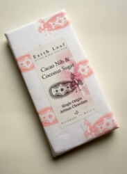 Cacao Nib & Coconut Sugar Chocolate Bar 72 Gms-Earth Loaf