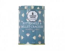 Millet Crackers Roasted Garlic 100 Gms-Monsoon Harvest